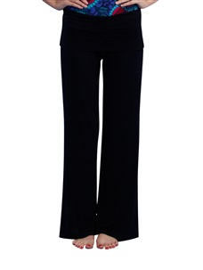 Women's Yoga Pants Medium rise Modal Black